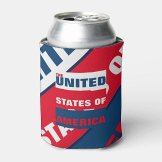 The United States of America drinkers Can Cooler