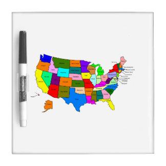 United States Map Dry Erase Boards Zazzle - Us map dry erase