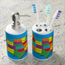 The United States of America Soap Dispenser And Toothbrush Holder
