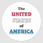 the United States of America Stickers