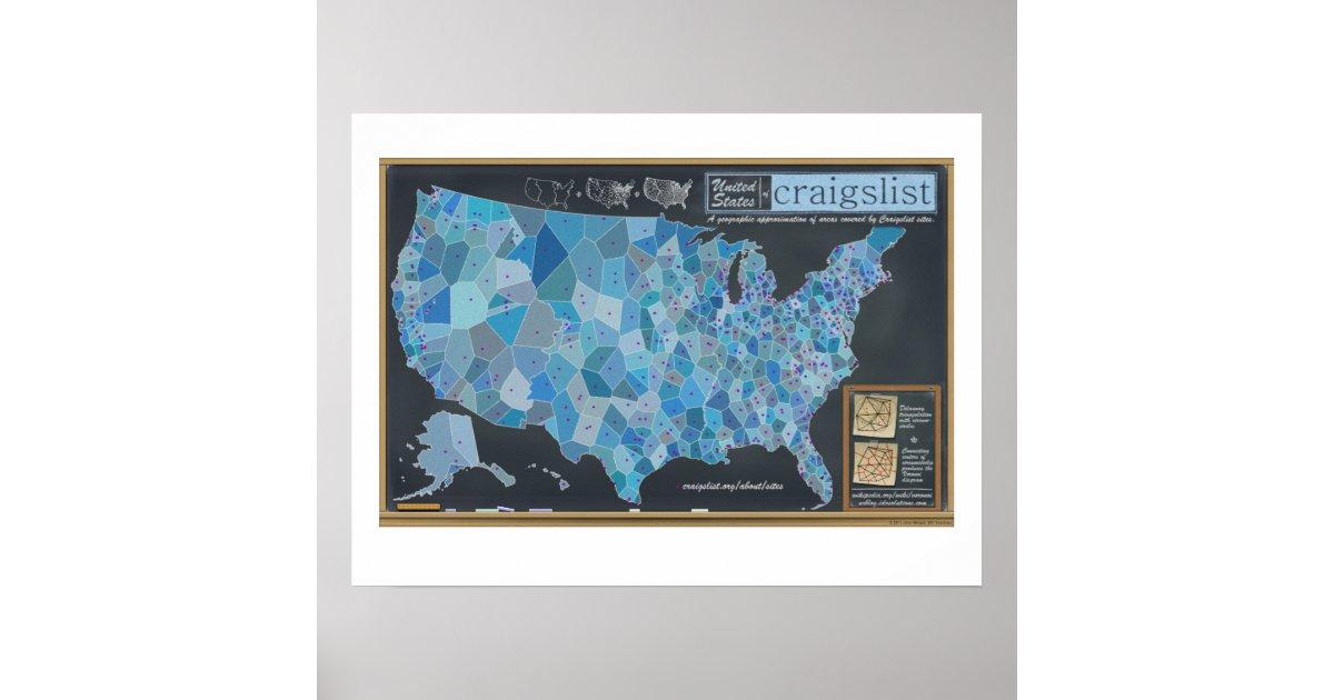 The United States of Craigslist Poster | Zazzle.com