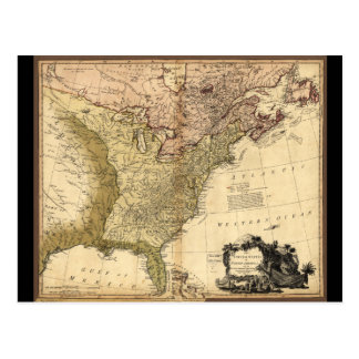 The United States of North America Map (1784) Postcard