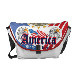 """The United States """"We The People"""" Double Eagle Messenger Bag"""