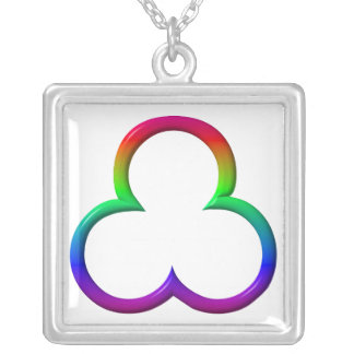 The Unity of The Most Holy Trinity Square Pendant Necklace