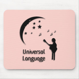 The Universal Language Pink Mouse Pad