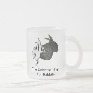 The Universal Sign For Rabbits - Beer Mug