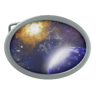 The universe oval belt buckle