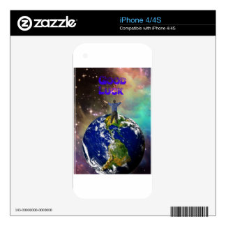 The Universe brings us good luck Decal For The iPhone 4