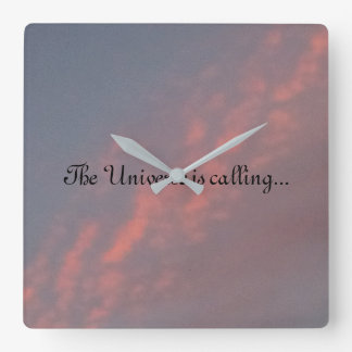 The Universe is Calling... Square Wall Clock