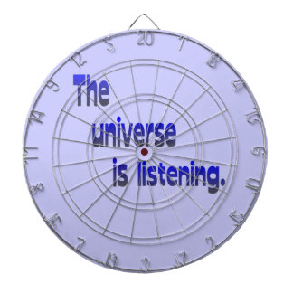 The Universe is Listening - blue background Dartboards