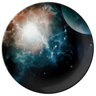The universe porcelain plates