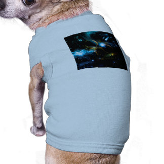 The universe of planets dog t-shirt