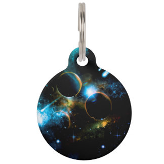 The universe of planets pet ID tag
