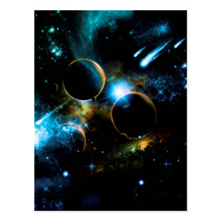 The universe of planets postcard