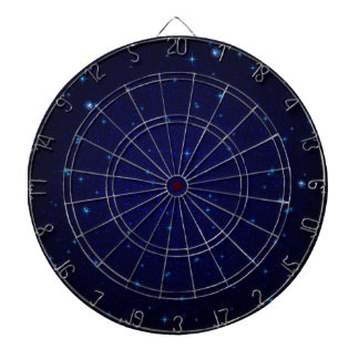The Universe with Blue Stars Dart Board
