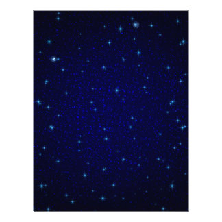 The Universe with Blue Stars Letterhead