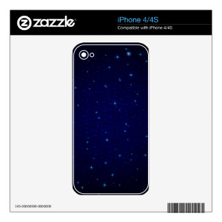 The Universe with Blue Stars Skin For iPhone 4