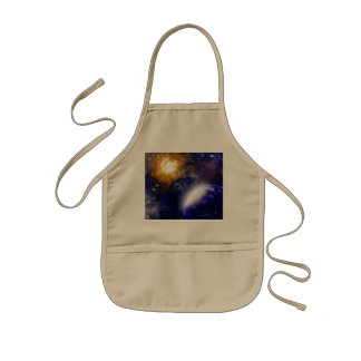 The universe with stars and planet aprons