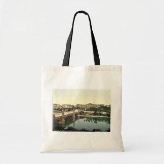 The University and bridge, Strassburg, Alsace Lorr Tote Bag