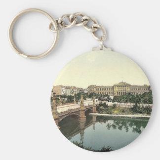 The University and bridge, Strassburg, Alsace Lorr Key Chains