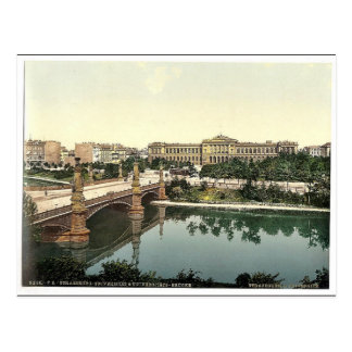 The University and bridge, Strassburg, Alsace Lorr Postcard
