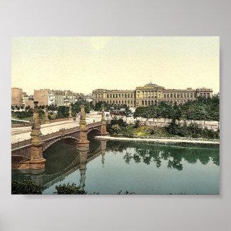 The University and bridge, Strassburg, Alsace Lorr Poster