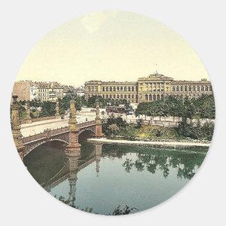 The University and bridge, Strassburg, Alsace Lorr Sticker