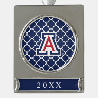 The University of Arizona | A Silver Plated Banner Ornament
