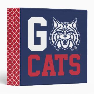 The University of Arizona | Go Cats - Quatrefoil 3 Ring Binder
