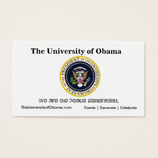 The University of Obama Business Card