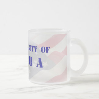 The University of Obama Frosted Glass Coffee Mug