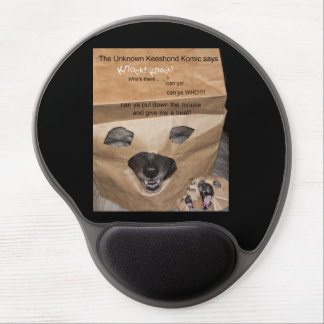 The Unknown Keeshond Komic, and knock knock jokes Gel Mouse Pad