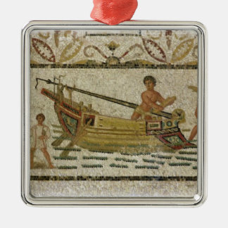 The unloading of a ship christmas ornaments