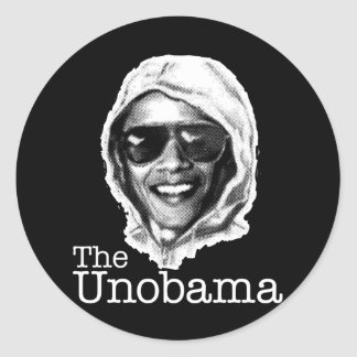 The UnObama - Obama Unabomber evil twin Classic Round Sticker