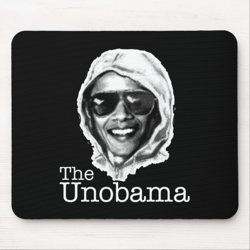 The UnObama - Obama Unabomber evil twin Mouse Pads