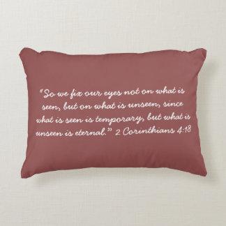 """""""The Unseen"""" Scripture Pillow"""