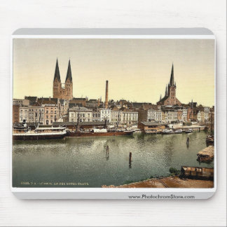 The Unter Trave, near Holsenthor, Lubeck, Germany Mousepads