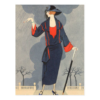 The Untimely Rain by George Barbier Postcard