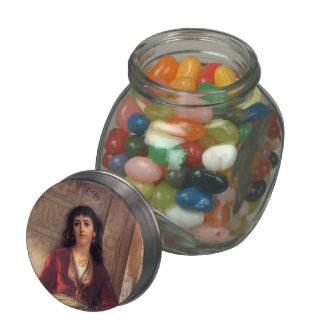 The Unwelcome Companion by John Waterhouse Glass Candy Jar