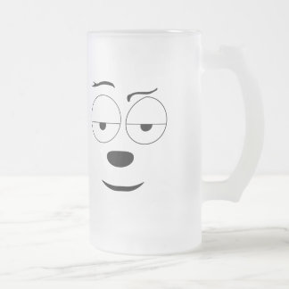 The Upbeat Dog Frosted Glass Beer Mug
