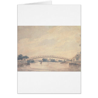 The Upper Bridge over the Schuylkill Pavel Svinyin Greeting Card