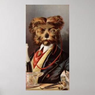 The Upper Class Dog Print
