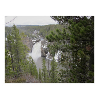 The Upper Falls Of Yellowstone National Park Print