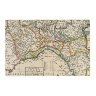The upper part of Italy Laminated Place Mat