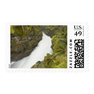 The upper Rogue river flows through a gorge Stamp