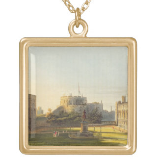 The Upper Ward, Windsor Castle, from 'Royal Reside Gold Plated Necklace