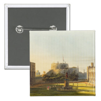 The Upper Ward, Windsor Castle, from 'Royal Reside Pinback Button