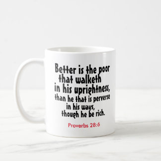 """The Upright Poor"" Coffee Mug"