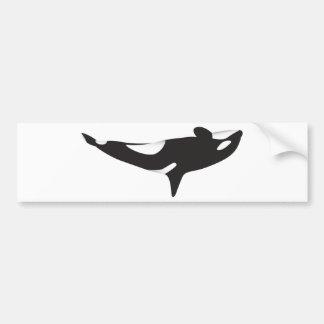 The Upside Down Whale Bumper Sticker