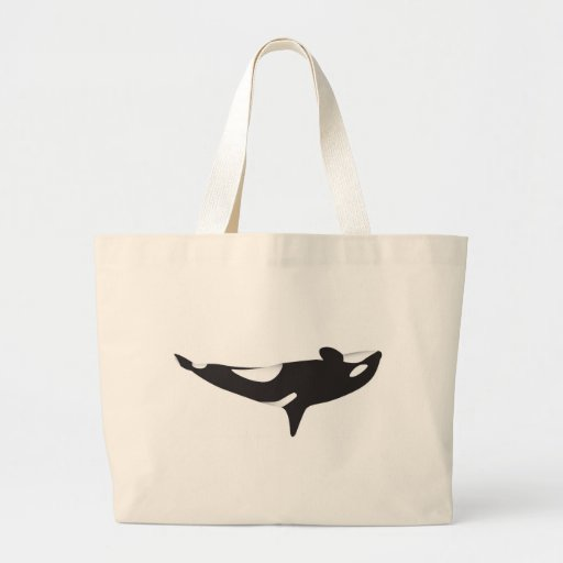 The Upside Down Whale Canvas Bags